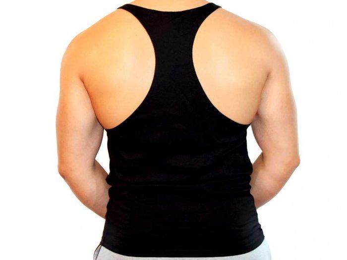 Focus Gymwear Stringer zwart voorkant man