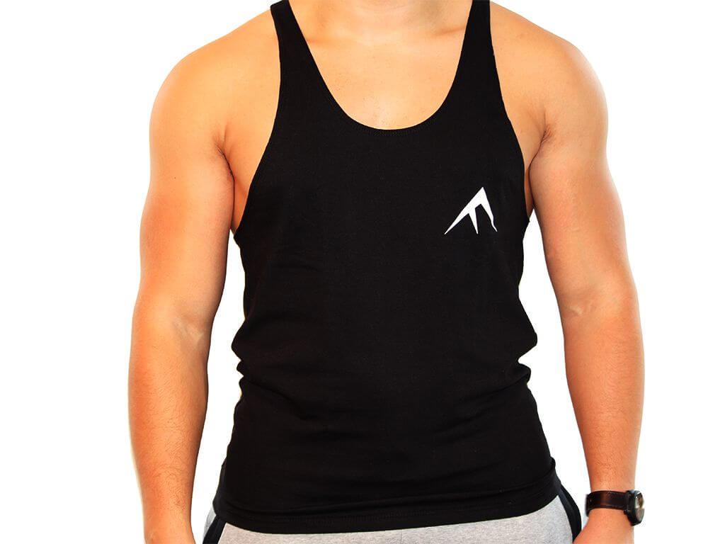 Focus Gymwear Stringer zwart achterkant man