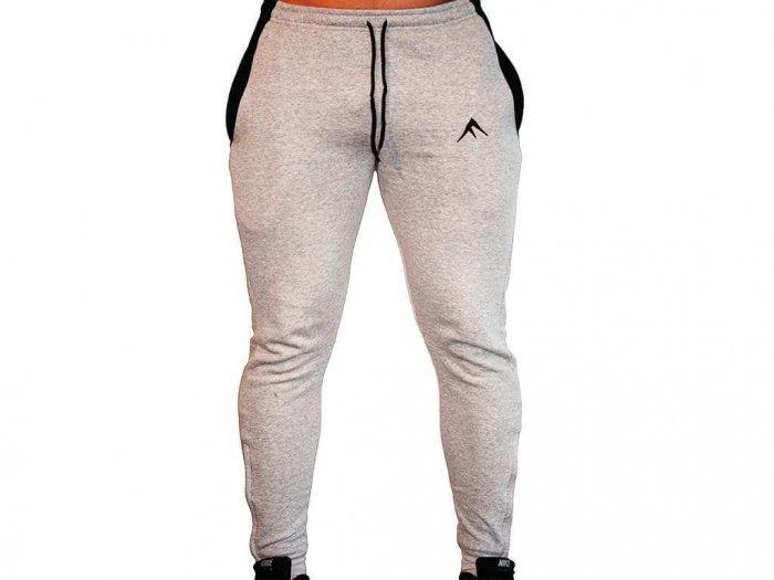 Focus Gymwear fitted broek grijs voorkant man