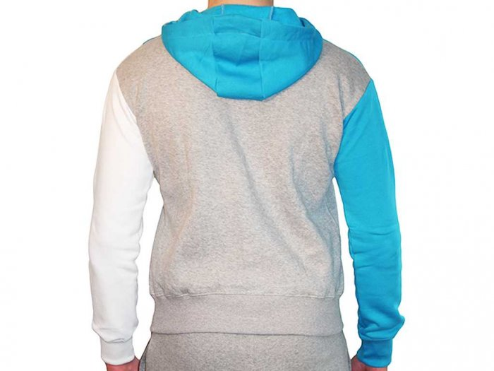 Focus Gymwear hoodie tri panel blauw achterkant man