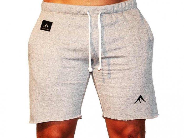 Focus Gymwear korte broek grijs voorkant man