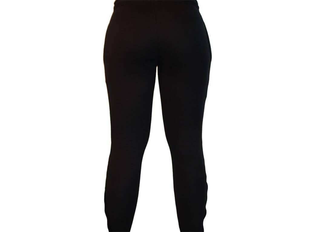 Focus Gymwear Fitted bottom zwart achterkant vrouw