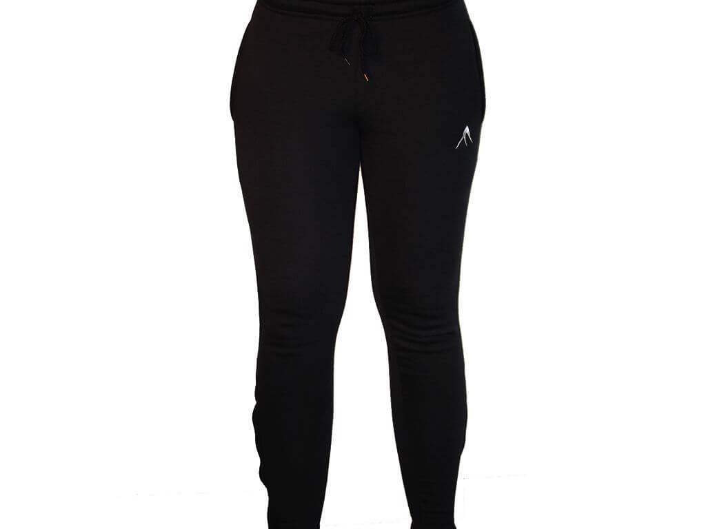 Focus Gymwear Fitted bottom zwart voorkant vrouw