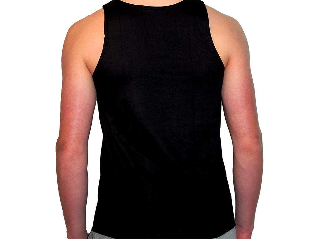 Focus Gymwear Tanktop zwart achterkant man