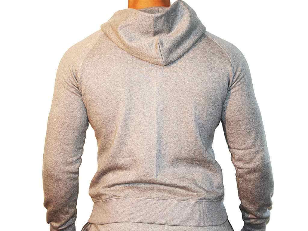 Focus Gymwear hoodie grijs achterkant man