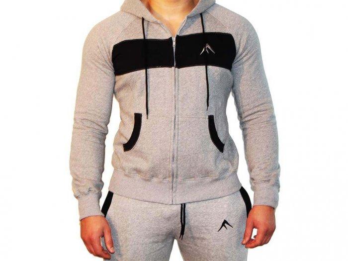 Focus Gymwear hoodie grijs voorkant man